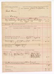 1888 September 19: Voucher, U.S. v. Frank Brown, larceny ; includes cost of warrant, mileage, and discharging prisoner; Susie Bell, Andy Walters, Thomas Waltin, and Nancy Waltin, witnesses; C. Commelley, deputy marshal; James Brizzolara, commissioner