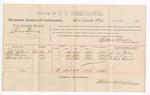 1888 December 18: Voucher, U.S. v. Lewis Bunch, larceny ; includes cost of per diem and mileage; Joe M. Lahoy, R.R. Evans, and Clark Davis, witnesses; John Carroll, U.S. marshal; Stephen Wheeler, commissioner