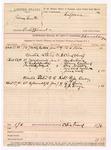 1889 January 9: Voucher, U.S. v. James Smith, embezzlement ; U.L. Pair, witness; U.S. v. Cloud Wolf; One Hubbard, Telman Emeland, Charles Noble, Mrs. Charles Noble, and Jones Watt, witnesses; U.S. v. Robert Fyfe, larceny; R.J. Bain and G.R. George, witnesses; includes cost of subpoenas for warrant and mileage; B. Commelley, deputy marshal