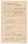 1889 June 30: Voucher, U.S. v. Henry Thompson, introducing spirituous liquors ; includes cost of travel and subpoenas; John Carroll, U.S. marshal; J.W. Salmon, deputy marshal; Mark Moon, Dirk Link, and Walter Horman, witnesses; Stephen Wheeler, commissioner