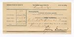 1889 June 30: Voucher, U.S. v. Brack Edgeman, larceny; includes cost of mileage and subpoenas; John Carroll, U.S. marshal; John Swain, deputy marshal; Stephen Wheeler, commissioner; William Smith and Robert Chause, witnesses