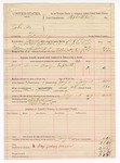 1889 January 28: Voucher, U.S. v. John Fox, larceny ; includes cost of mileage, horse, and per diem; D.V. Rusk, deputy marshal; A.G. Wilkinson and Willie Seven, posse comitatus; Stephen Wheeler, commissioner