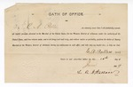1889 January 10: Oath of office, of C.A. Pullens, deputy marshal; L.R.A. Wallace, clerk