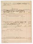 1889 July 19: Voucher, U.S. v. John Davis, larceny ; includes cost of mileage and feeding prisoner; B.T. Hughes, deputy marshal; Stephen Wheeler, commissioner