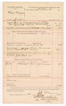 1889 February 14: Voucher, U.S. v. Green Musgrove, introducing spirituous liquors ; includes cost of mileage and per diem; J.B. Lee, deputy marshal; J.R. Rose, posse comitatus; John Summers, witness; Stephen Wheeler, commissioner