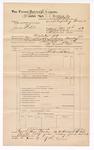 1889 June 30: Voucher, U.S. v. James Webster, impeding the court process; includes cost of mileage; John Carroll, U.S. marshal; Stephen Wheeler, commissioner