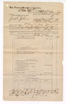 1889 June 30: Voucher, U.S. v. Joseph Johnson, introducing spirituous liquors ; includes cost of mileage; John Carroll, U.S. marshal; Charles Barnhill, deputy marshal; Stephen Wheeler, commissioner