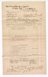 1889 June 30: Voucher, U.S. v. W. Bates and William Wilson, counterfieting; includes cost of mileage; John Carroll, U.S. marshal; G.G. Tyson, deputy marshal; James Brizzolara, commissioner; W.E. Surck, John Wilson, John Aaron, and James Parker, witnesses