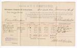 1889 January 27: Voucher, U.S. v. Henry Thompson; includes cost of per diem and mileage; William Linck, William Harrison, M.R. Moore, David Sizeworn, and John Porter, witnesses; Stephen Wheeler, commissioner; John Carroll, U.S. marshal