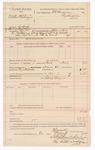 1889 February 6: Voucher, U.S. v. Walter Whitenger, violation of internal revenue laws; includes cost of mileage; E.B. Harrison, commissioner; B. Commelley, deputy marshal; George Pettigrew, guard; Stephen Wheeler, clerk; J.M. Dodger, deputy clerk