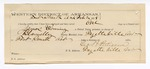 1889 February 2: Voucher, U.S. v. James Cowning, violation of internal revenue laws; inlcudes cost of mileage and feeding prisoners; attached receipt of certification, George Pettigrew, guard; E.B. Harrison, commissioner; B. Connelley, deputy marshal
