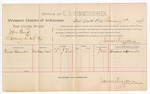 1889 February 3: Voucher, U.S. v. John Hemp, larceny ; includes cost of per diem and mileage; Thomas Alexander, witness; John Carroll, U.S. marshal; James Brizzolara, commissioner