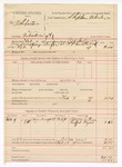 1889 February 13: Voucher, U.S. v. A.P. Sebaston, introducing spirituous liquors ; includes cost of mileage; Stephen Wheeler, commissioner; J.M. Mershon, deputy marshal; Mary Smithman and Ruffar Hayes, witnesses