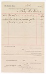 1889 February 7: Voucher, to Limberg Bro and Mickle; includes cost of supplies; John Carroll, marshal