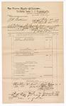 1889 June 30: Voucher, U.S. v. J.N. Patterson, larceny; includes cost of mileage; Stephen Wheeler, commissioner; Davis Anderson, Stephen Moon, John Abraham, Emmett Croker, and Mary Bruner, witnesses
