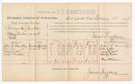 1889 February 10: Voucher, U.S. v. Norman Van Winkle, cutting timber on U.S. land; includes cost of per diem and mileage; John C. Handley, John Lee, Marion Wood, and Elisha Moulton, witnesses; John Carroll, U.S. marshal; James Brizzolara, commissioner