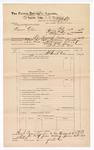 1889 June 30: Voucher, U.S. v. Squire Allen, murder; includes cost of mileage; John Carroll, U.S. marshal; J.B. Lee, deputy marshal