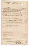 1889 April 13: Voucher, U.S. v. Josh O'Halle, introducing spirituous liquors ; includes cost of mileage and feeding prisoner; Stephen Wheeler, commissioner; G.G. Tyson, deputy marshal; J.M. Dodge, deputy clerk