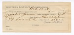 1889 February 14: Letter of certification, for employment of James Wilkins, guard over Jacobs and Johnson