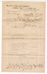 1889 June 30: Voucher, U.S. v. Bill Surage, larceny; includes cost of mileage; John Carroll, U.S. marshal; John Swain, deputy marshal; Stephen Wheeler, commissioner