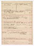 1889 March 27: Voucher, U.S. v. Sam White, larceny ; includes cost of mileage and feeding prisoner; Stephen Wheeler, commissioner; G.G. Tyson, deputy marshal; James B. Smith, posse comitatus; R.W. Leatty, B.J. Caps, and One Bridges, witnesses