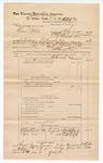 1889 June 30: Voucher, U.S. v. Sam White, larceny; includes cost of mileage; John Carroll, U.S. marshal; G.G. Tyson, deputy marshal; Stephen Wheeler, commissioner; R.M. Wheaty, B. Caps, and Bridges, witnesses