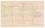 1889 February 23: Voucher, U.S. v. Rufus Williams, larceny ; includes cost of per diem and mileage; George Rosenthal, Thomas Ashford, and Mac Hill, witnesses; James Brizzolara, commissioner; John Carroll, U.S. marshal