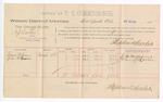 1889 February 23: Voucher, U.S. v. A.J. Barker, introducing spirituous liquors ; includes cost of per diem and mileage; John Carroll, U.S. marshal; Stephen Wheeler, commissioner