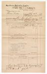 1889 June 30: Voucher, U.S. v. Thomas Hutke, larceny; includes cost of mileage; John Carroll, U.S. marshal; G.G. Tyson, deputy marshal; Stephen Wheeler, commissioner