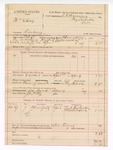 1889 April 4: Voucher, U.S. v. William Silcox, larceny ; includes cost of mileage; E.B. Harrison, commissioner; B. Connelley, deputy marshal; J.A. Petty, posse comitatus; W.S. Richardson and Albert Wilson, witnesses