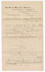 1889 June 30: Voucher, U.S. v. Mack Downey, larceny; includes cost of mileage; Jacob Yoes, late U.S. marshal; B. Connelley, deputy marshal; E.B. Harrison, commissioner