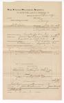 1889 June 30: Voucher, U.S. v. William Silcox, larceny; includes cost of mileage; Jacob Yoes, late U.S. marshal; B. Connelley, deputy marshal; E.B. Harrison, commissioner; William Richardson, et al., witnessnes