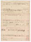 1889 March 4: Voucher, U.S. v. Ian Brown, larceny ; includes cost of mileage and feeding prisoner; Stephen Wheeler, commissioner; G.G. Tyson, deputy marshal; Charles Vaughn, Pierce McLaughlin, witnesses