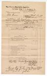 1889 June 30: Voucher, U.S. v. Pete Harris, larceny; includes cost of mileage; John Carroll, U.S. marshal; J.M. Grimms, deputy marshal; Stephen Wheeler, commissioner; Tillis Robinson, Jim Tumdubber, Daniel Patton, Mrs. Frazier, Andy Hammer, witnesses