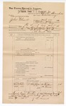 1889 June 30: Voucher, U.S. v. John Clanott, introducing spirituous liquors ; includes cost of mileage; John Carroll, U.S. marshal; Charles Barnhill, deputy marshal; Stephen Wheeler, commissioner; N. Collins, B. Dimes, witnesses