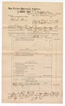 1889 June 30: Voucher, U.S. v. Charles Woods, introducing spirituous liquors ; includes cost of mileage; John Carroll, U.S. marshal; Charles Barnhill, deputy marshal; James Brizzolara, commissioner