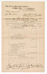 1889 June 30: Voucher, U.S. v. James Minnleton, contempt; includes cost of mileage; John Carroll, U.S. marshal; J.B. Lee, deputy marshal