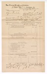 1889 June 30: Voucher, U.S. v. Alford Winchester, larceny; includes cost of mileage; John Carroll, U.S. marshal; J.W. Salmon, deputy marshal; James Brizzolara, commissioner