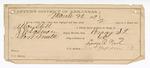 1889 March 20: Voucher, U.S. v. Allen Still, larceny ; includes cost of mileage and feeding prisoner; attached is letter of certification; James Brizzolara, commissioner; Mike Woods, posse comitatus; Lewis R. Nash, guard; N. Drake, H. Bean, witnesses; J.M. Salmon, deputy marshal; Stephen Wheeler, clerk; J.M. Dodge, deputy clerk