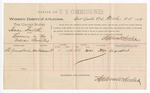 1889 March 25: Voucher, U.S. v. Isaac Smith, larceny ; includes cost of per diem and mileage; S.C. Youngblood, witness; Stephen Wheeler, commissioner; John Carroll, U.S. marshal