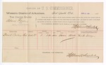 1889 March 25: Voucher, U.S. v. Albert Posey, larceny ; includes cost of per diem and mileage; Frank Covey, witness; Stephen Wheeler, commissioner; John Carroll, U.S. marshal