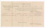 1889 March 27: Voucher, U.S. v. C. Smith, larceny ; includes cost of per diem and mileage; E.T. Youngblood, witness; John Carroll, U.S. marshal; Stephen Wheeler, commissioner
