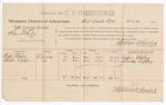 1889 March 28: Voucher, U.S. v. Sam White, larceny ; includes cost of per diem and mileage; Rufus Whaley, Burton Copps, witnesses; John Carroll, U.S. marshal; Stephen Wheeler, commissioner