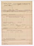 1889 June 17: Voucher, U.S. v. James Adams, retail liquor dealer; includes cost of warrant; Stephen Wheeler, commissioner; R.B. Creekman, deputy marshal