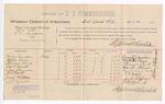 1889 April 2: Voucher, U.S. v. T.E. Turman, larceny; includes cost of per diem and mileage; Berry Landers, William Davis, Thomas Clark, John D. Wyatt, Sam Edmondson, R.L. Wyatt, Jack Clifford, L.E. Myhulh, witnesses; J. Coleman, witness of signatures; John Carroll, U.S. marshal