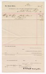 1889 April 20: Voucher, to Water Works Co.; includes cost of repairs; W.A. Smith