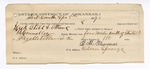 1889 April 4: Voucher, U.S. v. Zeek Still, larceny; includes cost of lodging and horsefeed; E.B. Harrisoner, commissioner; B. Connelley, deputy marshal; B.M. Thomas, guard; G.H. Lewism Abe Ballard, witnesses;