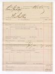 1889 July 12: Voucher, U.S. v. Owans Standridge, illicit distilling; Stephen Wheeler, commissioner
