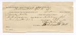 1889 March 26: Voucher, U.S. v. Thomas Hulke, larceny; includes cost of warrant and feeding prisoner; Stephen Wheeler, commissioner; G.G. Tyson, deputy marshal; Charles Vaughn, guard