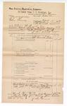1889 June 30: Voucher, U.S. v. Charles Thomas, introducing spirituous liquors; includes cost of mileage and subpoena for witnesses; John Swain, deputy marshal; John Carroll, U.S. marshal; Stephen Wheeler, commissioner; Horrace Gomawy, J.P. Collins, Joe Wood, witnesses